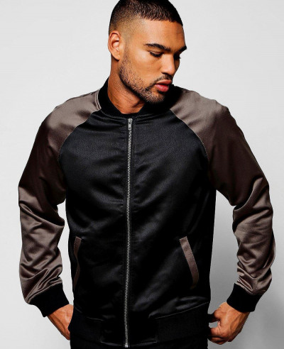 Black-Satin-Bomber-Jacket-with-Contrast-Raglan-Sleeves-Varsity-Jacket