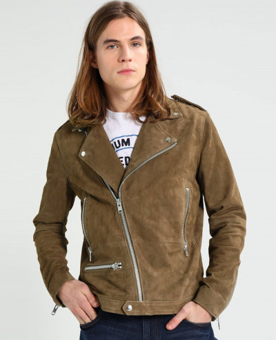 Brown-Real-Suede-Moto-Biker-Leather-Jacket