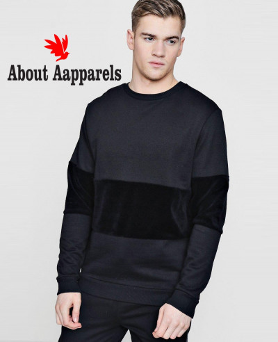 Colour-Block-Velour-Panel-Sweater