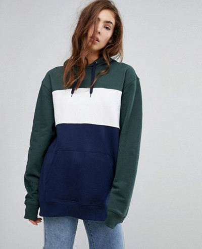 Contrast-Pullover-Oversized-Colour-Block-Hoodie