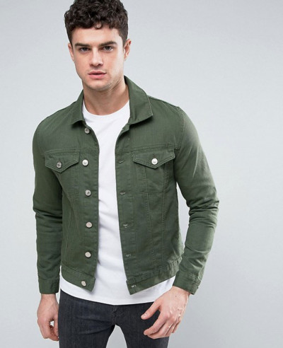 Denim-Jacket-In-Dark-Green