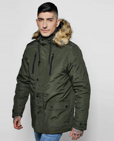 Faux-Fur-Hood-Trim-Parka-Windbreaker-Jacket