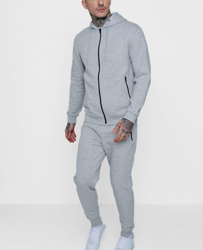 Grey-Skinny-Fit-Zipper-Through-Tracksuit