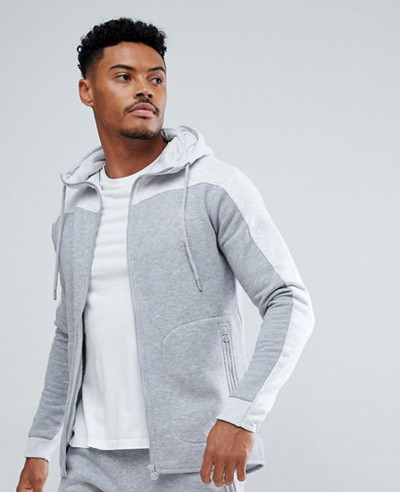 Gym-Muscle-Hoodie-In-Grey-Marl-With-Contrast-Panel