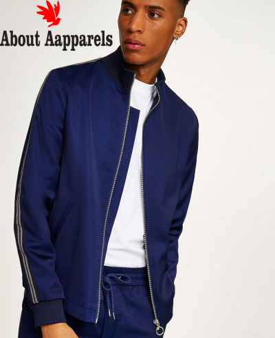 High-Bright-Blue-Track-Top-With-Side-Taping-Hoodie