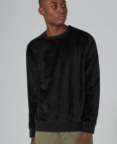 High-Quality-Men-Custom-Black-Faux-Fur-Sweatshirt