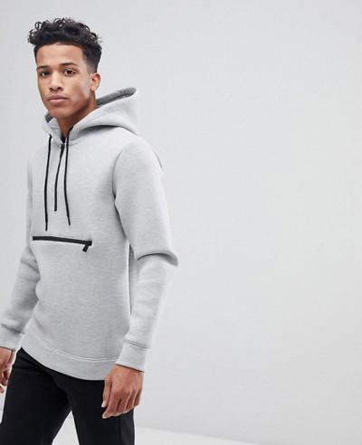 High-Quality-Men-Custom-Hoodie-With-Half-Zipper-Detail
