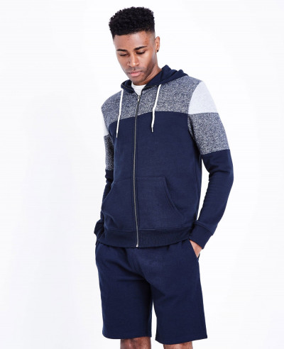 High-Quality-Men-Navy-Colour-Block-Zipper-Front-Hoodie