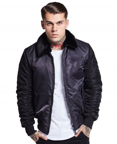 High-Quality-Men-Satin-Bomber-Varsity-Jacket
