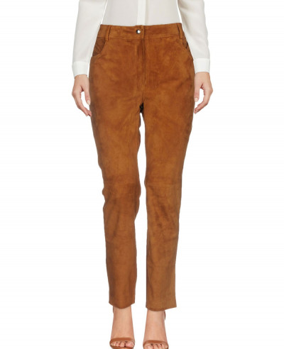 High-Quality-Women-Suede-Front-Flannel-Jogger-Pant