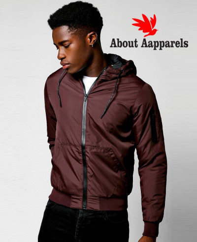 Hooded-Padded-Cagoule-With-Detailing-Windbreaker-Jacket-in-Burgundy