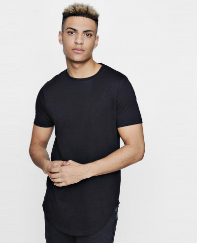 Hot-Selling-Men-Longline-Scoop-Hem-T-Shirt