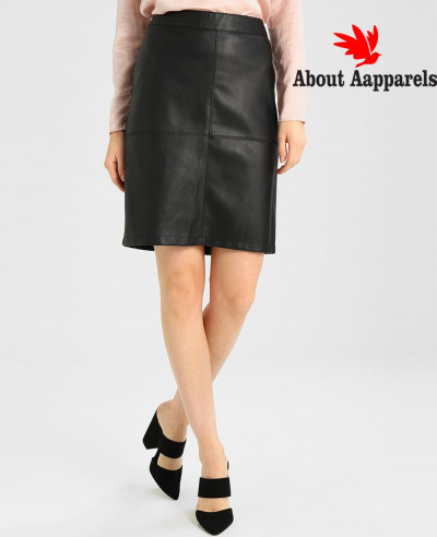Hot-Selling-Women-Custom-Leather-Pencil-Skirt