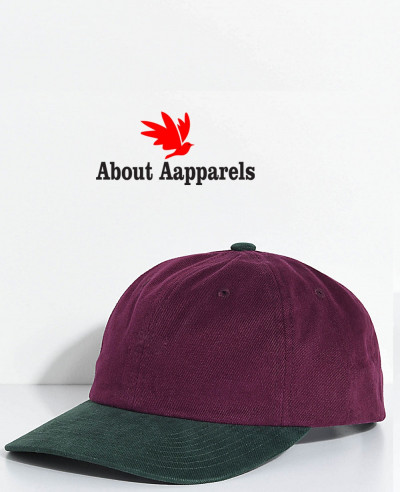 Jumble-Burgundy-&-Green-Six-Panel-Hat