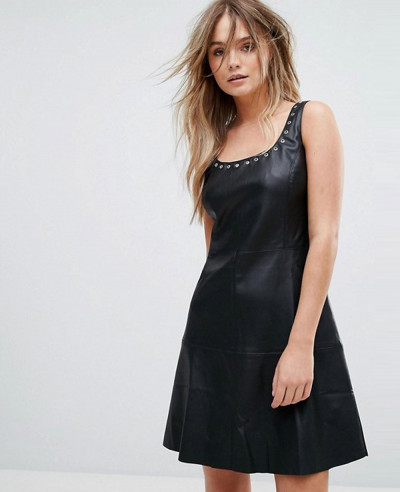 Leather-Look-Eyelet-Detail-Dress-AA-1982-(1)