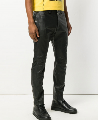 Leather-Motorcycle-Pants-Black-Slacks-For-Men