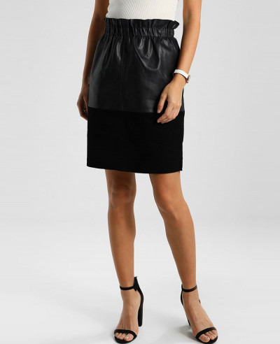 London-Leather-Pencil-Skirt