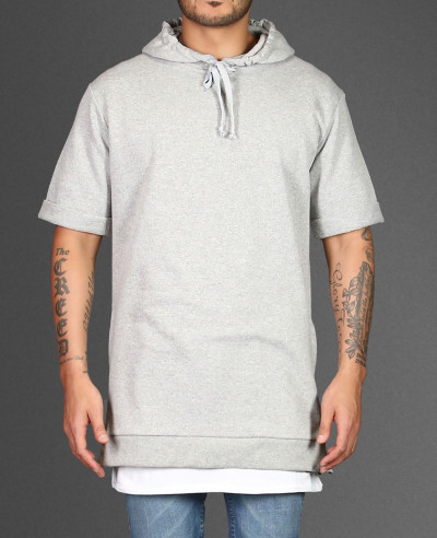 Longline-Grey-With-Side-Zipper-Men-Hoodie