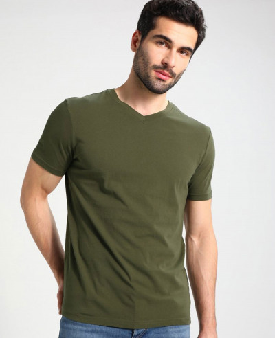 Men-Basic-Green-Short-Sleeve-T-Shirt
