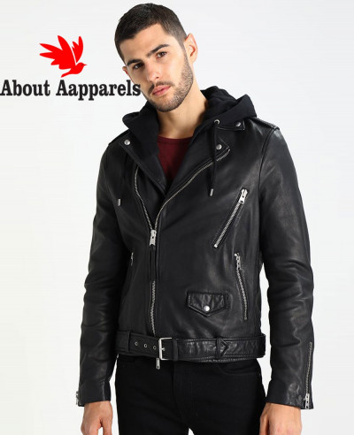 Men-Biker-Leather-Jacket-with-Hood