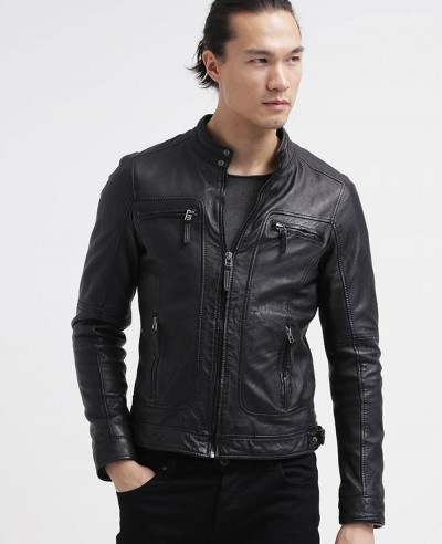Men-Biker-Stylish-Classic-Leather-Jacket
