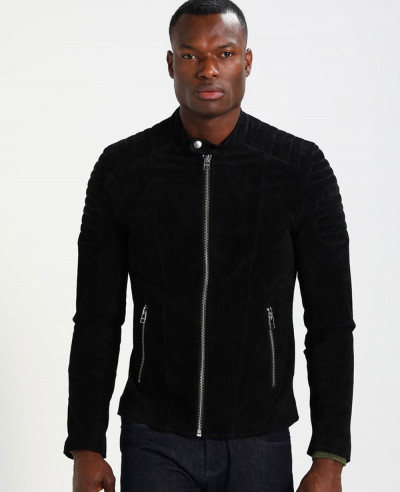 Men-Biker-Suede-Black-Leather-Jacket