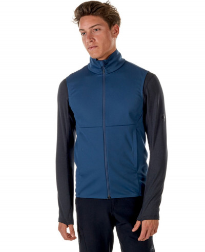Men-Blue-Softshell-Vest