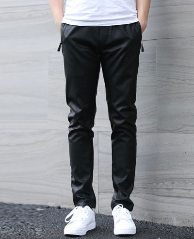 Men-Fashion-Zip-Hip-Hop-Leather-Long-Jogger-Pants