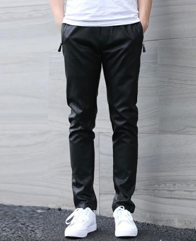 Men-Fashion-Zip-Hip-Hop-Leather-Long-Jogger-Pants