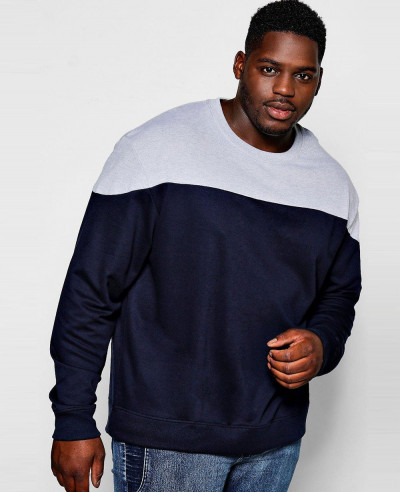 Men-Hot-Selling-Big-And-Tall-Colour-Block-Sweatshirt