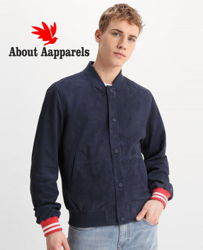 Men-Navy-Blue-Bomber-Suede-Leather-Jacket