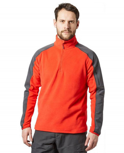 Men-Quarter-Zipper-Fleece-Jacket