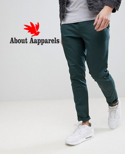 Men-Skinny-Chinos-In-Bottle-Green-Trouser