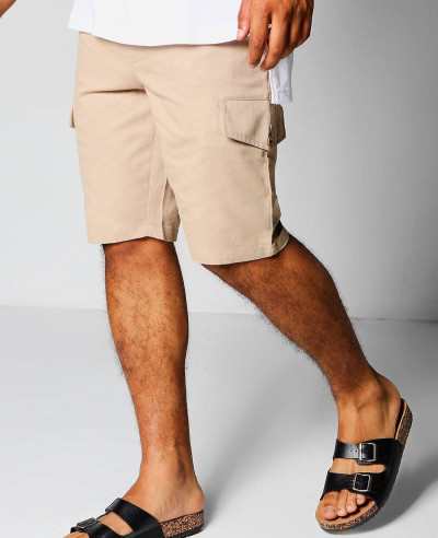 Men-Slim-Fit-Cargo-Shorts
