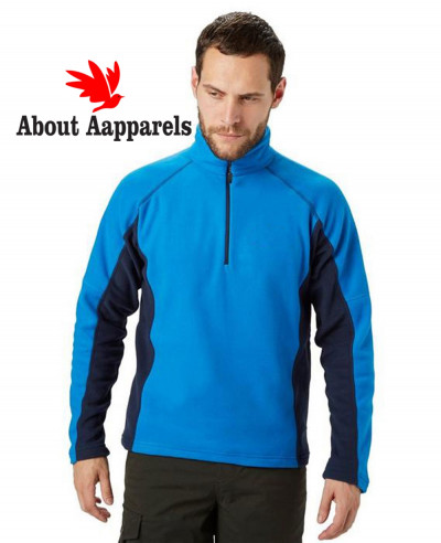Men-Stylish-Half-Zipper-Micro-Fleece-Jacket