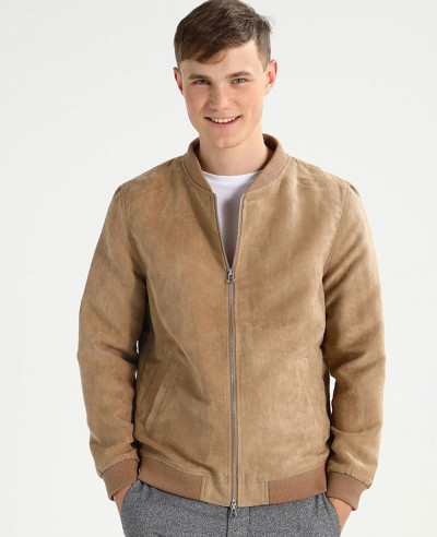 Men-Suede-Biker-Faux-Leather-Jacket
