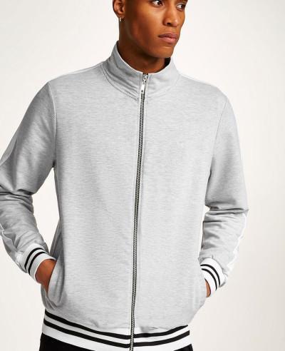 Men-Treack-Top-Full-Zipper-Grey-Hot-Sweatshirt-Jacket