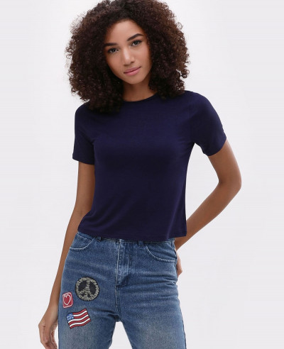 Navy-Blue-Basic-Crop-Top-Tee