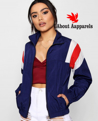 Navy-Blue-Women-Custom-Windbreaker-Jacket