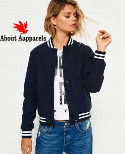 Navy-Blue-Wool-Fashion-Varsity-Bomber-Jacket