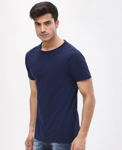 Navy-Blur-Short-Sleeve-Slim-Fit-Crew-Neck-T-Shirt