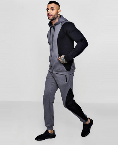 New-Fashionable-Colour-Block-Zipper-Hooded-Tracksuit
