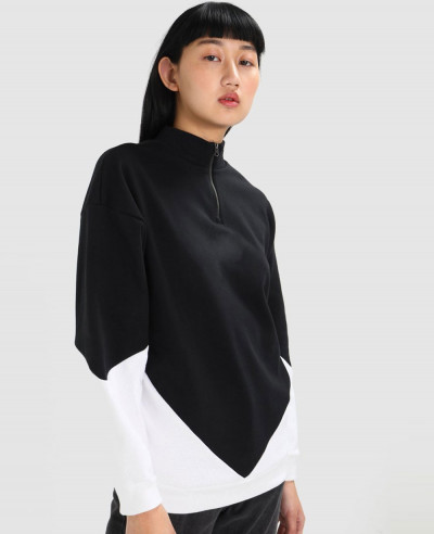New-High-Quality-Custom-Colorblock-Zipper-Sweatshirt