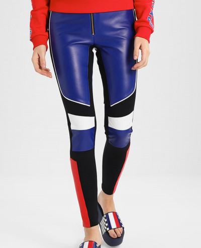 New-High-Quality-Soft Shell-And-Leather-Leggings