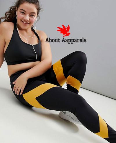 New-Hot-Selling-Custom-Plus-Stripe-Panel-Legging