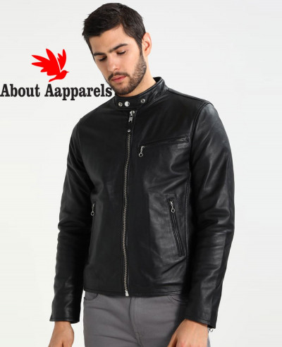 New-Hot-Selling-Men-Biker-Leather-Jacket