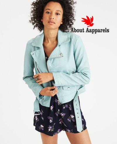 New-Hot-Selling-Women-Biker-Leather-Jacket