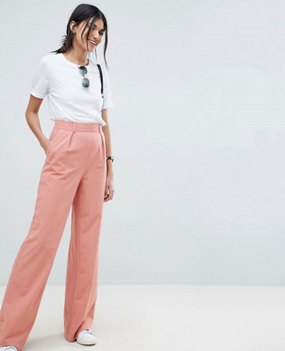 New-Look-Design-Tall-Wide-Leg-Trousers-With-Pleat-Details