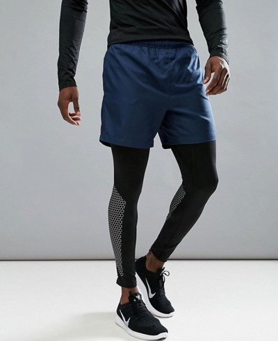 New-Look-Men-Custom-Shorts-In-Navy