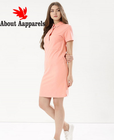 New-look-Pink-Oversized-Pocket-Polo-Shirt-Dress